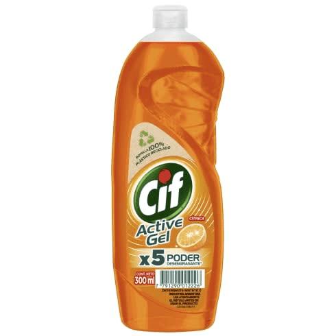 Cif Active Gel Detergente Lavavajilla Concentrado Cítrica